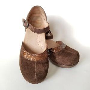 Dansko Sally Suede Croc Mary Jane Shoes